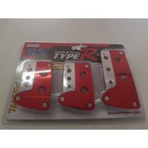 Pedaleiras Esportivas Para Vw Fiat Ford Gm Import Vermelha