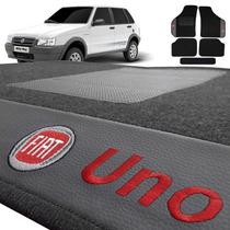 Jogo De Tapete Carpete Automotivo Bordado Fiat Uno Mille