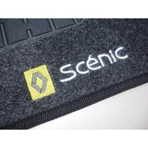 Tapete Renault Scénic Carpete Grafite Bordado - Jogo C/ 3 Pç