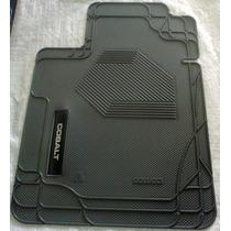 Tapete Chevrolet Cobalt 03 Peças C/ Traseira Interiça E Logo