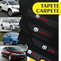 Tapete Carpete Bordado Personalizado Honda Civic Fit Crv