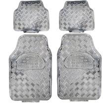 Tapete Carro Aluminio Cromado Tuning Automotivo