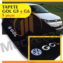 Tapete Carpete Personalizado Com Logo Bordado Gol G5 E G6