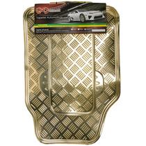 Tapete Automotivo Alumínio Cromado Dourado Carro Universal