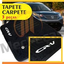 Tapete Carpete Personalizado Bordado Cr-v 2012 2013 2014