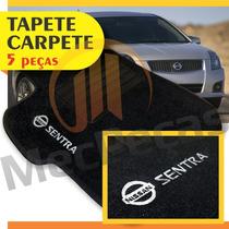 Tapete Carpete Bordado Com Logo Personalizado Nissan Sentra