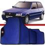 Jogo Tapete Automotivo Carro Uno Elba 84 A 10 Azul