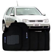 Tapete Carpete Golf 2002 A 2007 Personalizado Preto Com Logo