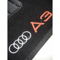 Tapete Audi A3 1997/2006 Carpete Bordado - Jogo Com 4 Peças