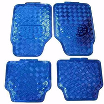 Tapete Carro Metalizado Azul 4 Peças Tuning Automotivo