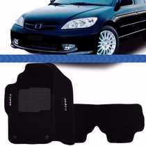 Tapete Civic 2002 2003 04 05 06 Bordado Carpete Preto
