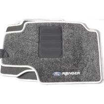 Jogo Tapete Carpete Resinado Ford Ranger Nova Cabine Dupla