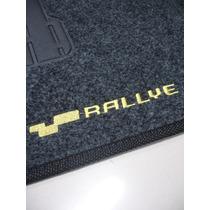 Tapete Vw Gol G4 Rallye Carpete Bordado - Jogo Com 5 Peças