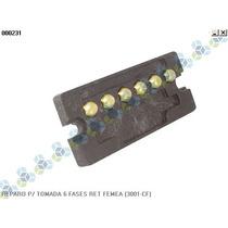 Reparo P/ Tomada 6 Fases Retangular Femea (3001-cf)