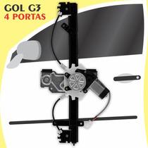 Kit Vidro Elétrico Dianteiro Sensorizado Gol G3 4 Portas