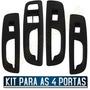 Kit Moldura Porta Botão Vidro Elétrico Gol G5 4 Peças Novo