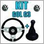 Kit Upgrade Volante + Bola De Câmbio + Coifa Marcha Gol G3