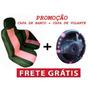 Kit Capa De Banco Automotivo E Volante Rosa Com Frete Grátis