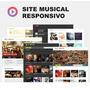Super Site Responsivo Para Webradios E Djs, Bandas, Cantores