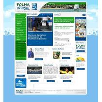 Script Site Jornal Portal De Noticias Folha Do Litoral - 041