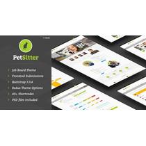 Tema Wordpress Responsivo Petsitter + Site + Logo
