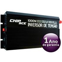 Inversor De Tensão Veicular Chip Sce - 1000w - 24v Para 110v