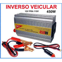 Conversor Inversor Veicular 12v Para 110v 450w