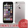 2x Películas Transparente Iphone 6 Plus 5.5 Frente E Verso