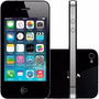 Iphone 4s Preto 8gb Apple Anatel Nacional Lacrado Com Nfe
