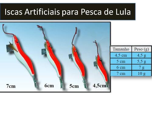 Iscas Artificiais Para Pesca De Lula - 7cm. Anzol,linha,sabi