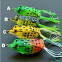4 Isca Artificial Frog Sapo Rã Borracha Silicone Traira Shad