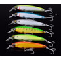 Kit 6 Iscas Artificiais 3d 12cm Similar Yo-zuri 3d Minnow