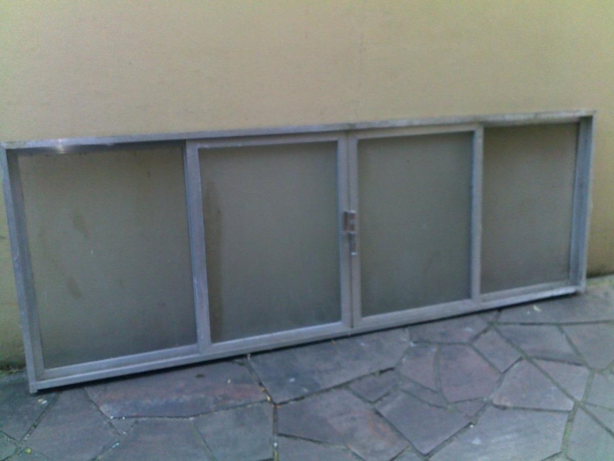 #51627A Janela De Alumínio Anodizado 2 57x0 90m Com Vidros! R$ 375 00 no  528 Janelas Em Aluminio Curitiba Preço