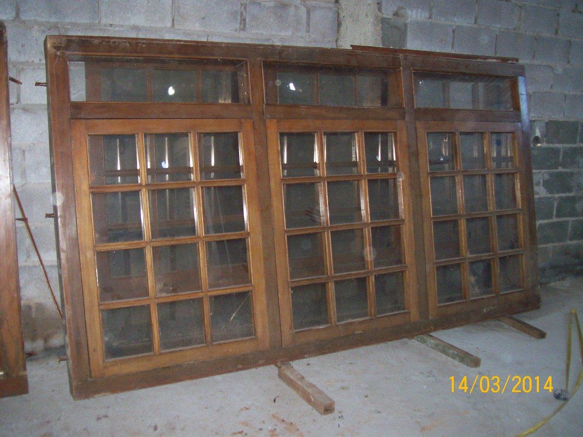 #866545 Janela Antiga Em Madeira Maci A Com Vidro E Veneziana Pictures to pin  382 Janelas De Vidro Usadas Em Bh