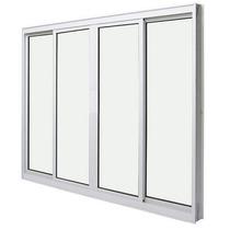 Janela 4f Linha 25 Suprema 1,20x1,10m Com Vidro- Janelafacil