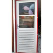 Porta Fixa Branca 2 Vidros Direita2.10x80 Em Santo André
