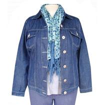 Jaqueta Jeans Azul Plus Size (tamanhos Grandes)