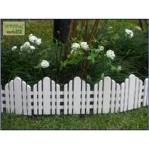 Cerca Branca Orla Para Jardim Conjunto - 1,03mx15 Cm Altura