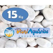 15 Kg Seixo Branco, Pedras Para Jardins, Decoração, Aquário
