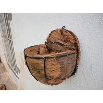 Xaxim De Coco Da Bahia (vaso De Parede) ``nao Acumula Agua´´