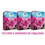 Fertilizante Adubo P/ Rosas Adubo Vitaplan 150g - Kit Com 3
