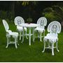 Conjunto Mesa +4 Cadeiras Colonial Sem Apoio P/ Braço Plast.