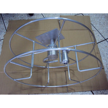 Suporte Mangueira Enrolador Aluminio Parede Giratorio Jardim