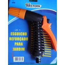Esguicho Plástico Reforçado Mangueira Jardim Western 3806