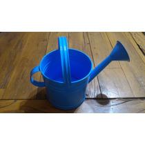 Regador De Água Para Jardim Galvanizado Azul