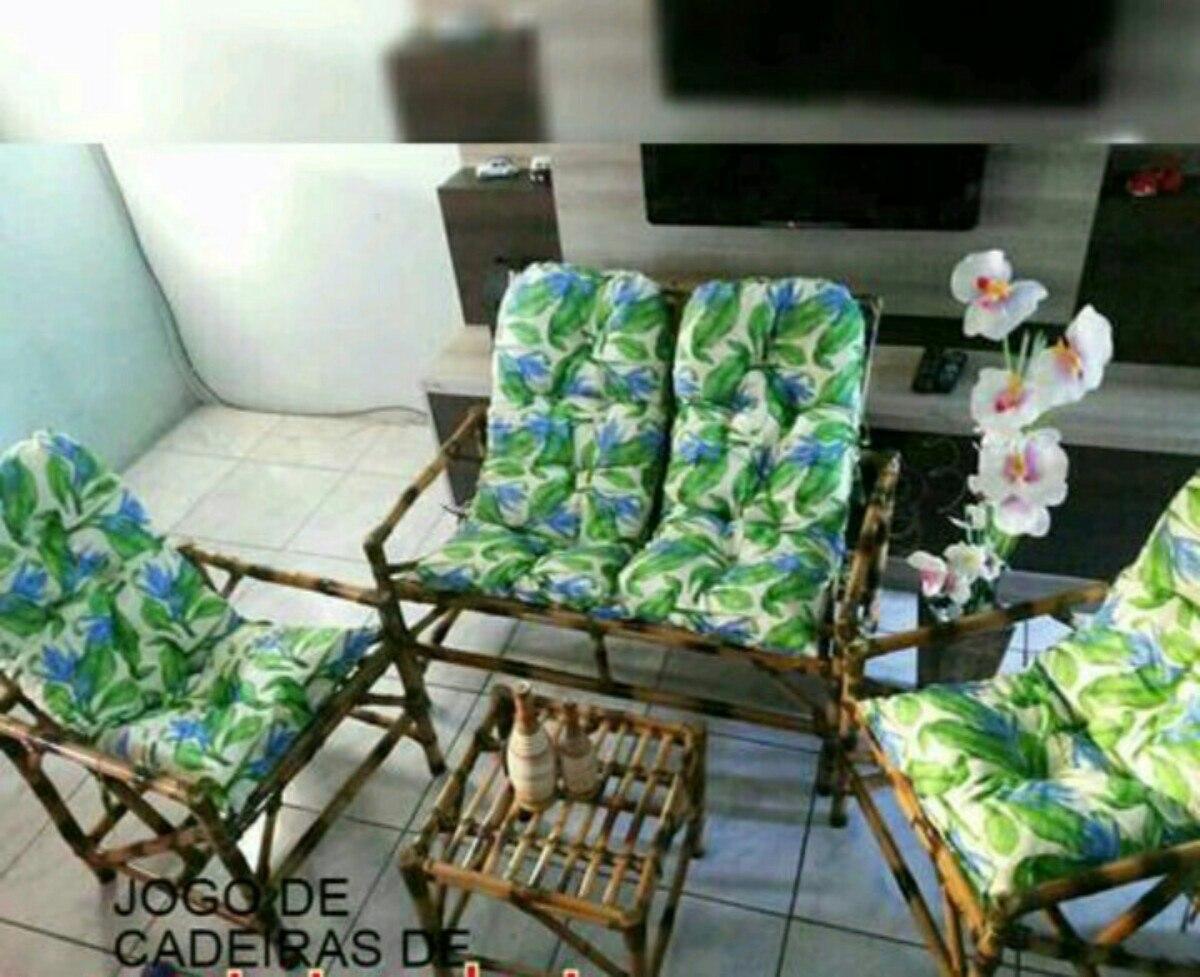 Jogo Bambu / Vime Para Área Externa / Sacada / Varanda R$ 599 00 no  #614B2B 1200 977