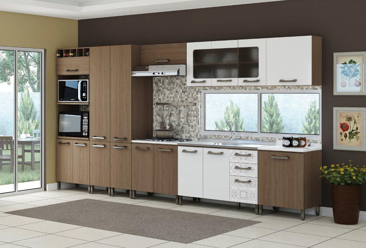 Jogo Cozinha Modulada Completa Balcão 9 Peças Kappesberg R$ 1.990  #614E3D 1200 814