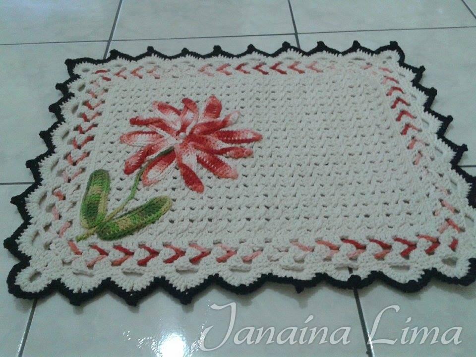 pics photos   jogo de tapete cozinha em croch com receita