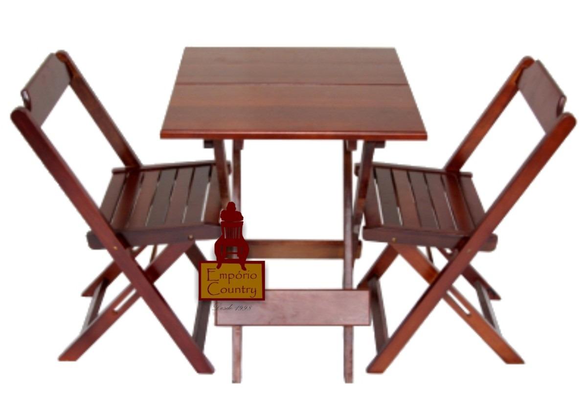 Jogo De Mesa Bar 60x60 Com 2 Cadeiras Dobrável Em Madeira R$ 233 60  #451F1B 1200x858