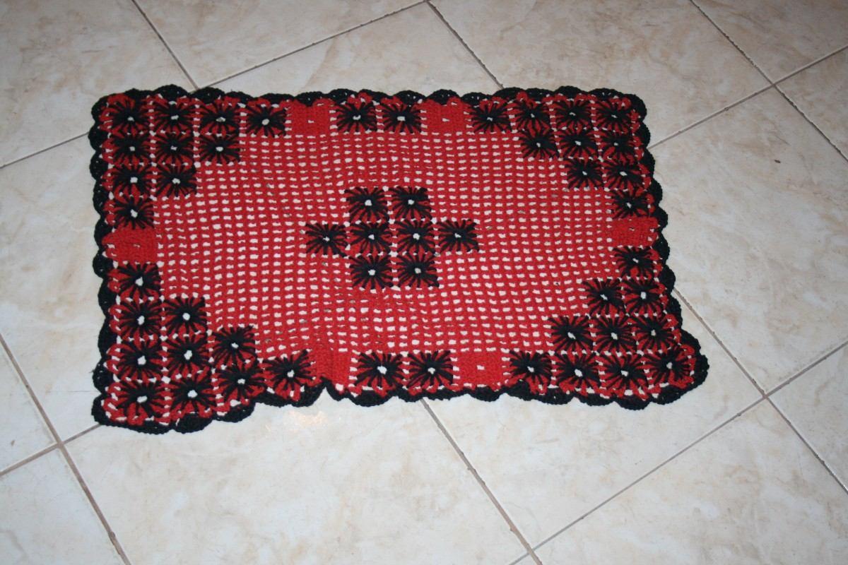 Jogo De Tapete De Banheiro Em Crochê Barbante.sob.encomenda R$ 125  #A32831 1200 800